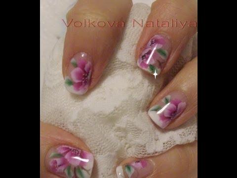 Китайская роспись на короткие ногти
