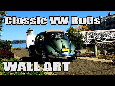 Classic VW BuGs Vallone Works Beetle Large Metal Vintage Wall Art Prints
