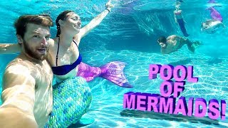 Video 😲POOL FULL OF MAGICAL MERMAIDS!! 🎏 MP3, 3GP, MP4, WEBM, AVI, FLV September 2018