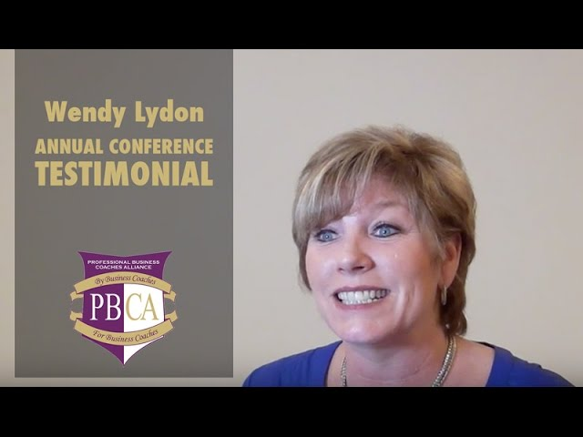 Wendy Lydon | PBCA Annual Conference Testimonial