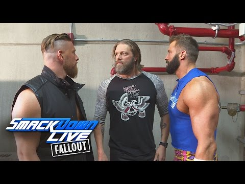Edge reunites with The Edgeheads: SmackDown LIVE Fallout, Nov. 15, 2016 (видео)