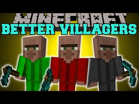 Minecraft: BETTER VILLAGERS (LUMBERJACKS, MINERS, & FARMERS!) Mod Showcase