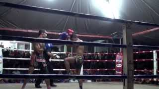 Gua Musang Malaysia  City new picture : Marcel Gaines (Tiger Muay Thai) vs Mat Ropi rematch @ Gua Musang, Malaysia 21/4/2013