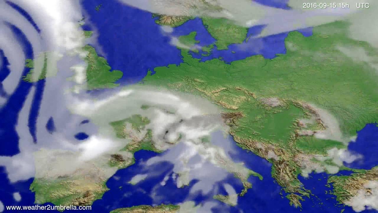 Cloud forecast Europe 2016-09-13
