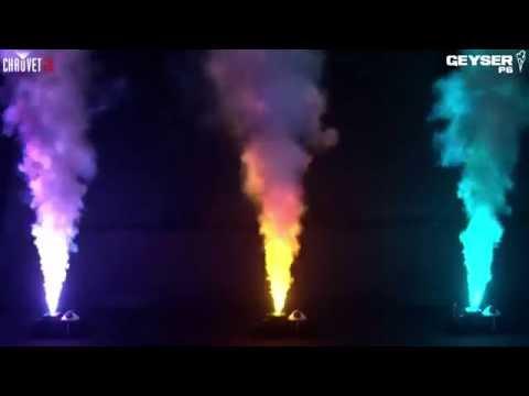 TOP machine à fumée AFX LIGHT Geyser 6 LEDS de 3 W jeu de lumière led + 1 L DJ