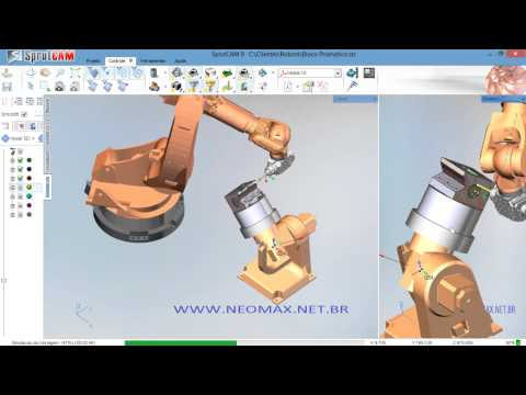 Milling and hole machining with KUKA robot programmed with SprutCAM