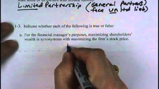 Financial Management: Supplemental Homework - Chapter 1