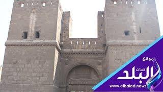 باب النصر أحد أبواب القاهرة ....روعة التصميم ... وشموخ العمارة