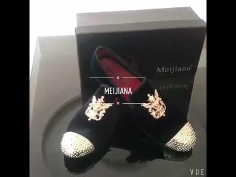 MEIJIANA Mccrery- Men's Footwear Dress Shoes Loafers - Black, Red, Brown