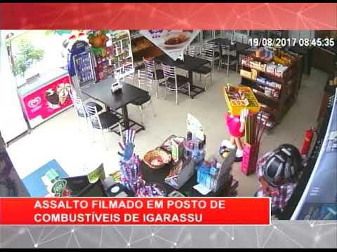 [RONDA GERAL] Assalto filmado em posto de combustíveis de Igarassu
