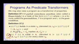 Mod-01 Lec-37 Verification Of Imperative Programs