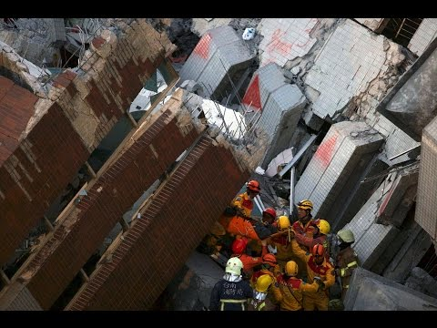 More people were rescued from under the rubble of a collapsed building after a deadly earthquake hit Taiwan.