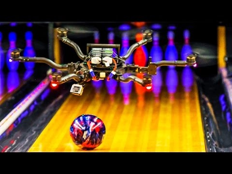 Unbelievable Trick Shots With Drones That Can Carry and Catch