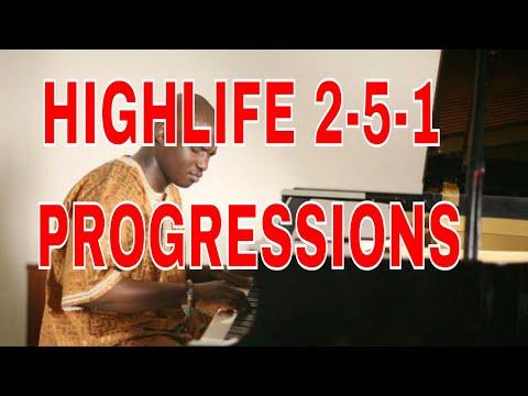 Highlife Piano Theory For Beginners (Part 3) 2-5-1 AFRICAN HIGHLIFE CHORD PROGRESSION