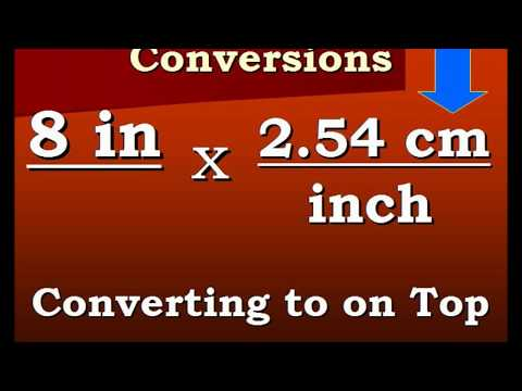 how to convert cm in an inch