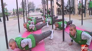 شاهد.. الرئيس السيسي يزور طلاب الكلية الحربية فجرًا