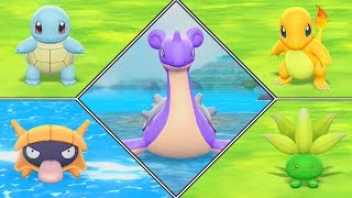 Pokémon Let's Go Pikachu Shiny Hunting Highlights #07 (Lapras, Charmander, Squirtle, Shellder) by Ace Trainer Liam