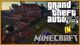Minecraft: LIVE Building - GTA 5 Michael's Home Part 1 - Garden