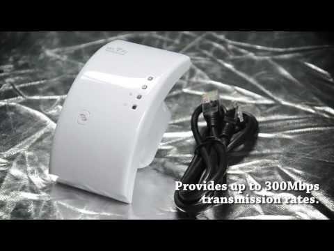 C1299 Wireless-N Wifi Repeater 802.11N/B/G Network Router Range Expander 300M 2dBi Antennas