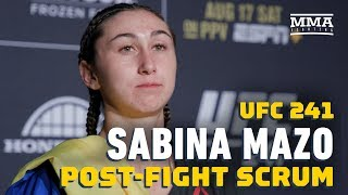 UFC 241: Sabina Mazo Surprised By Record-Setting Scorecards - MMA Fighting by MMA Fighting