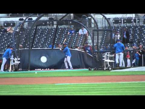 Starlin - Chicago Cubs All-Star shortstop Starlin Castro hits in BP.
