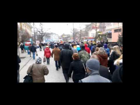 Crimea stand up! Simferopol. Protest  25.02.2014 (видео)
