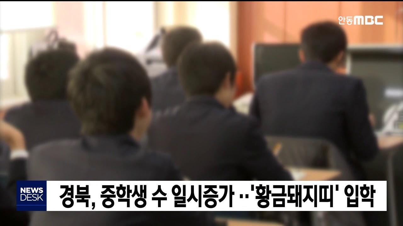경북, 중학생 수 일시증가..'황금돼지띠' 입학