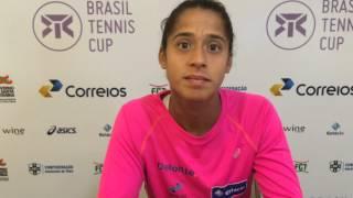 Teliana Pereira vai à semifinal do Brasil Tennis Cup