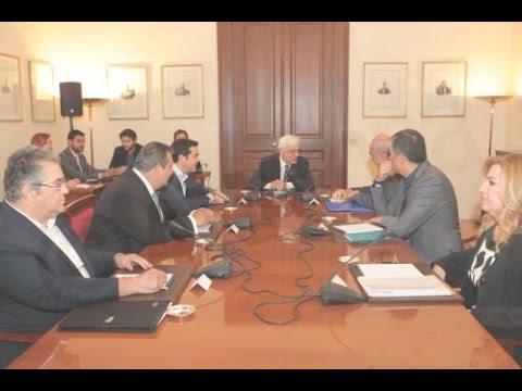 Οι δηλώσεις των Πολιτικών Αρχηγών μετά την σύσκεψη στο Προεδρικό Μέγαρο