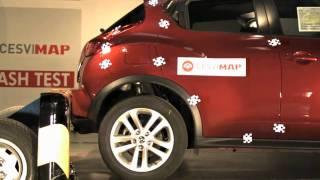 Crash test trasero Nissan Juke en CESVIMAP