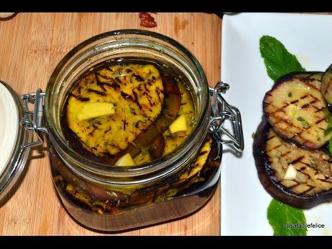 ricette vegan - melanzane grigliate sott'olio