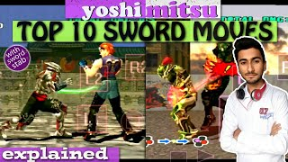Video Top 10 sword moves of yoshimitsu, how to give sword stab | Hindi Tech Room download in MP3, 3GP, MP4, WEBM, AVI, FLV January 2017