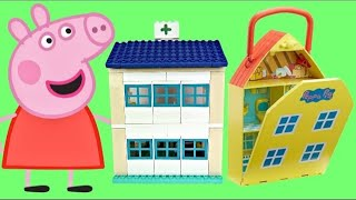 Video Compilation of PEPPA PIG Playsets with Hospital George & School Classroom Duplo MP3, 3GP, MP4, WEBM, AVI, FLV April 2018