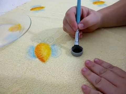 Pintar em tecido felpudo