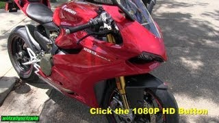 9. DUCATI 1199 Panigale S  Walk around, start-up & revving video (1080P HD)