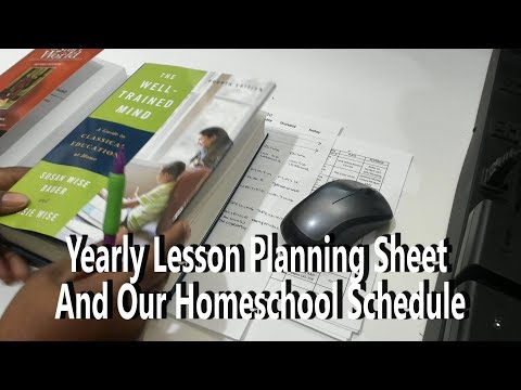 Yearly Lesson Planning Sheet And Our Homeschool Schedule