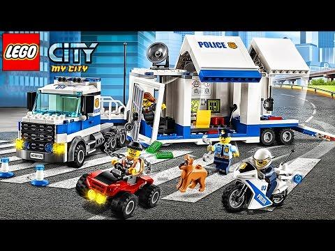 LEGO Police. Police Car. Cartoon about LEGO   LEGO Game My City