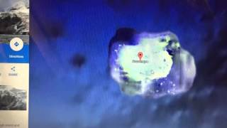 Mysterious Bouvet Island mystery Google Earth 3D Hidden illuminating NWO base maybe , certainly a mystery around the island.