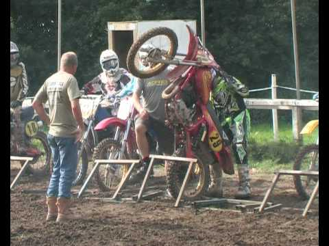 Motocross Rider Gets Stuck in Start Gate Warmingham