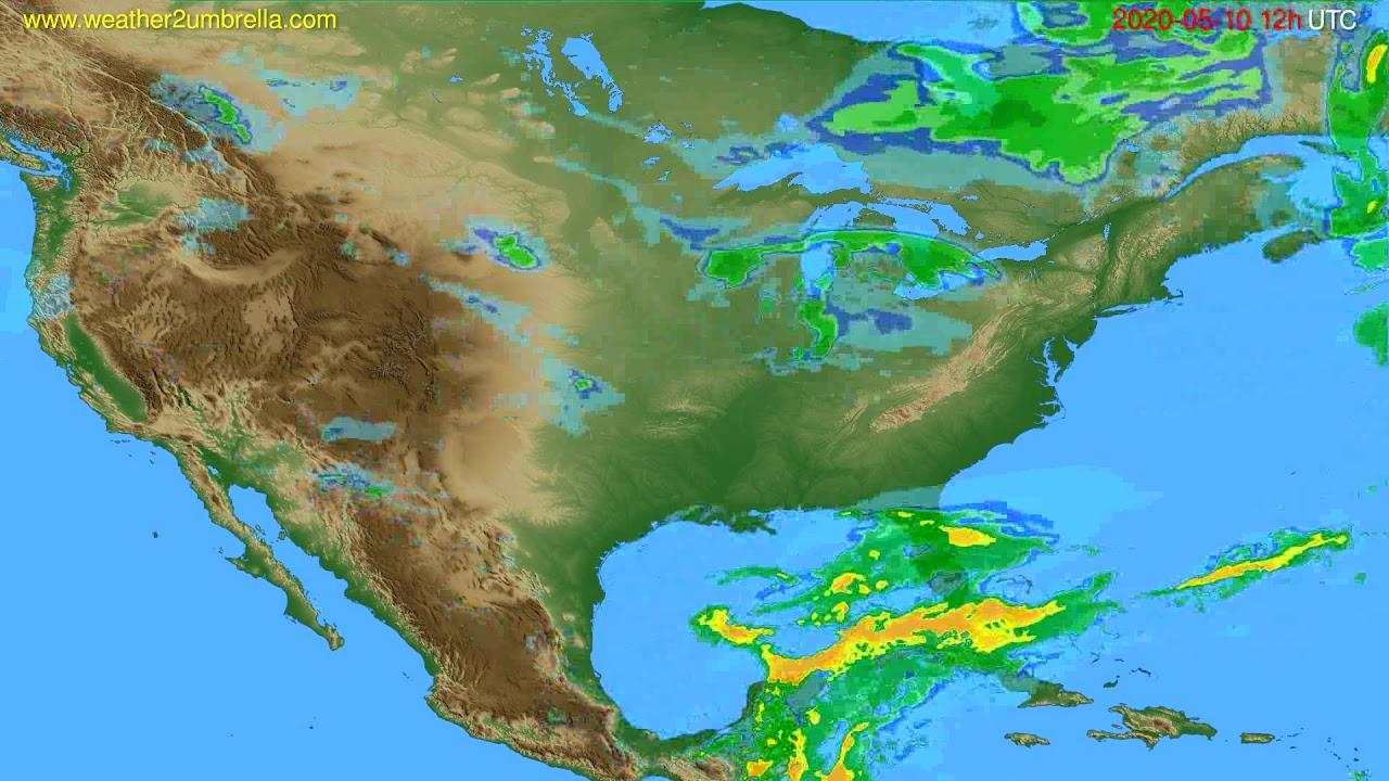 Radar forecast USA & Canada // modelrun: 00h UTC 2020-05-10
