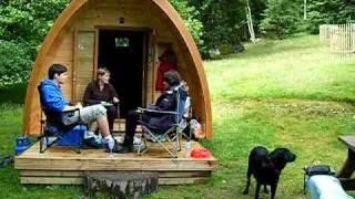 Camping Pods at Rydal Hall Christian Centre near Ambleside, Cumbria.