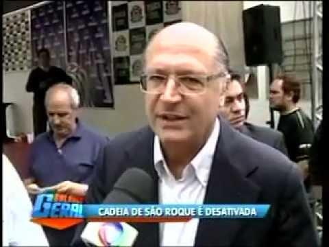 Balanço Geral -  TV RECORD - Visita do Governador Geraldo Alckmin em São Roque