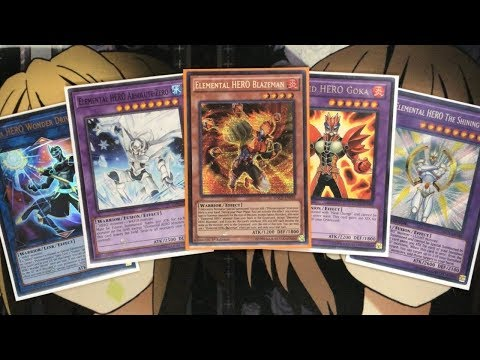 My Elemental Hero Yugioh Deck Profile for November 2018