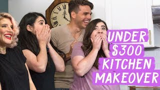 Video Under $300 Kitchen Makeover! | Mr. Kate Decorates on a Budget MP3, 3GP, MP4, WEBM, AVI, FLV Agustus 2019