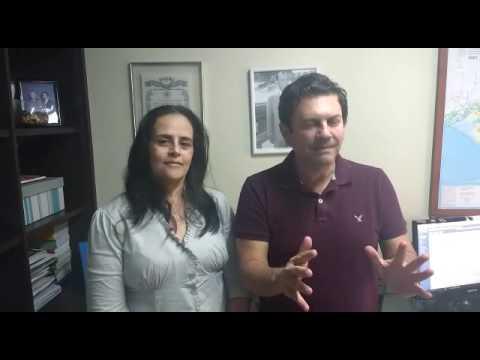 Deputado Otavio Leite e a pré-candidata a prefeita em Engenheiro Paulo de Frontin, Joelma Romeiro