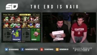 Guy plays Smash 64 with a Movistar box.