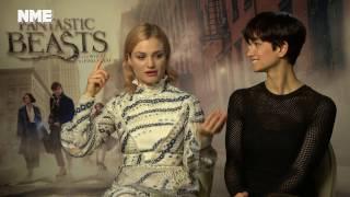 Fantastic Beasts <b>Alison Sudol</b> And Katherine Waterston On JK Rowling's Set Visit