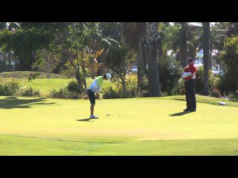 [Australian Golf Schools _ ANK GOLF] LPGA Tour So Yeon Ryu working on her putting at Sanctuary Cove