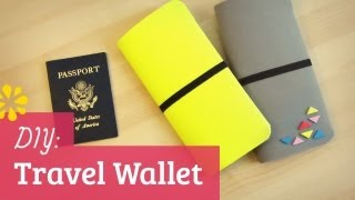 How to Make a Travel Wallet - YouTube