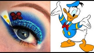 Disney's Donald Duck Makeup Tutorial - YouTube